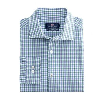 Stoney Hill Classic Burgee Shirt Shirt in Starboard Green by Vineyard Vines