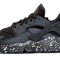 Nike Air Huarache Run - Triple Black / Pearl Paint Speckle