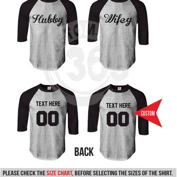 Hubby and Wifey ( Set of 2 Raglan for 40.99 )