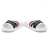 Tommy Hilfiger Mens White / RWB Splash 4D Slides