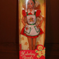 Barbie Doll New in Box Holiday Treats Barbie Apron Cooking