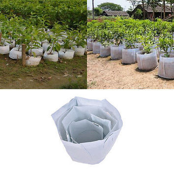 Round Fabric Pots Plant Pouch Root Container Grow Bag Aeration Container HU
