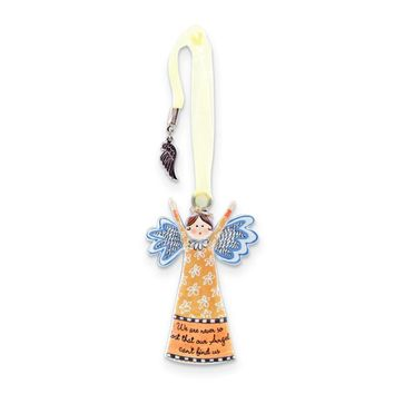 Silver-tone Never So Lost Wing Charm Always An Angel Ornament