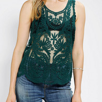 Urban Outfitters - Pins And Needles Embroidered Tank Top