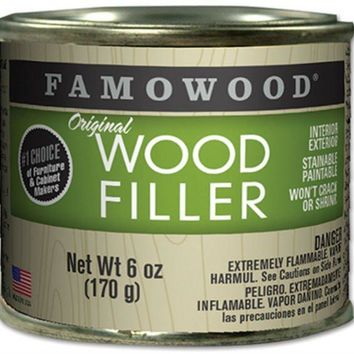Famowood® 36141106 Original Wood Filler for Prof Woodworkers, 6 Oz, Birch