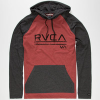 Rvca Distressed Mens Lightweight Hoodie Brick  In Sizes