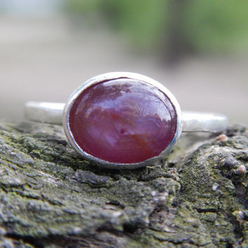 Star Ruby in Sterling Silver Ring