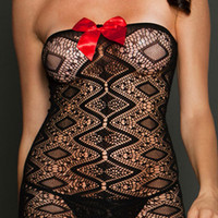 Cute On Sale Hot Deal Hollow Out Lace Transparent Sexy Home Lingerie Sleepwear Exotic Lingerie [6596411907]