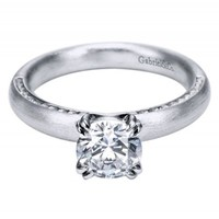 14K White Gold Channel Straight Engagement Ring Wedding Day Diamonds