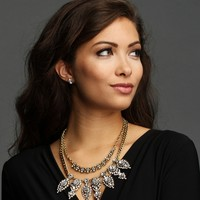 Sale-gold Two Layer Glitzy Necklace Set