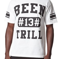 Been Trill Sporty T-Shirt - Mens Tee - White