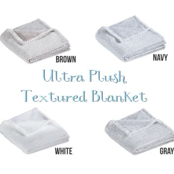 Ultra Plush Textured Blankets