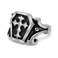 Shiny Gift Jewelry New Arrival Totem Titanium Stylish Strong Character Ring [6544843523]