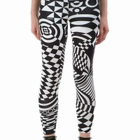 VERSACE VERSUS OPTIC PRINT LEGGINGS - WOMEN - BOTTOMS - VERSACE VERSUS - OPENING CEREMONY