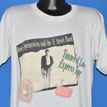 80s Bruce Springsteen Tunnel Of Love Express Tour t-shirt Large