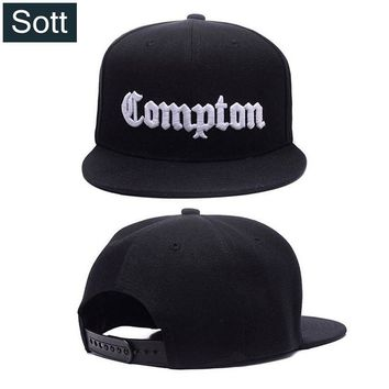 Trendy Winter Jacket [SOTT] 12 Colors Mens Compton Snapback Hats Bone Gorras Swag LA Snapbacks Compton Hip Hop Baseball Cap For Adult AT_92_12