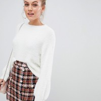 New Look Petite Fluffy Sweater at asos.com