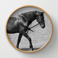 Black Horse Beauty Wall Clock by Karl Wilson Photography