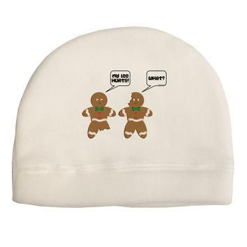 Funny Gingerbread Conversation Christmas Child Fleece Beanie Cap Hat