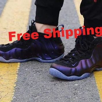 "[Free Shipping ] Nike Air Foamposite One ""Eggplant"" 314996-008  Basketball  Sneaker"