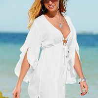 Bell sleeve tunic Cover Up