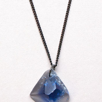Mountain Rock Pendant Necklace in Blue by Rosa Pietsch