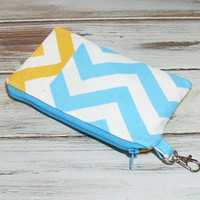 Chevron Clutch - Yellow Clutch - Aqua Clutch - Clutch Purse - Small Clutch Purse - Cute Clutch Purse - Clutch Bags - Cell Phone Clutch