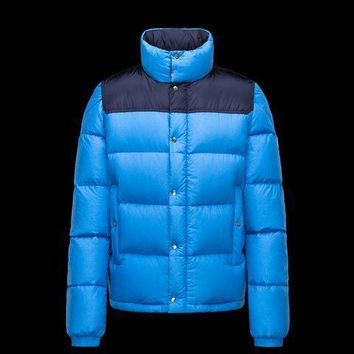 Moncler Men Down-Quilted Wool Coat