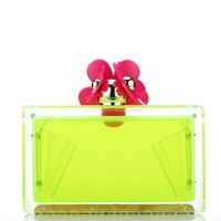 Milanblocks Neon Acrylic Perspex Wedding Custom Box Clutch Daisy Abstract Evening Party Bridal Clutch Bag