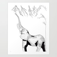 El-phant Art Print by Dmarmol