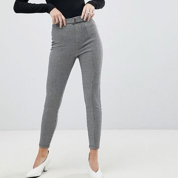 Stradivarius Mini Dogs Tooth Tapered PANTS at asos.com
