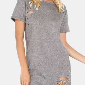 "So ""Ye"" Ripped fashion tshirt dress"