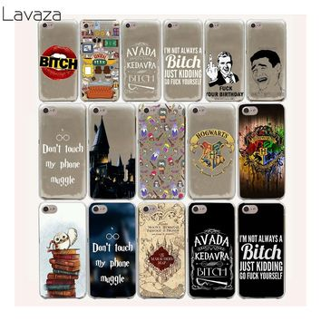 Lavaza 4FF Avada Kedavra Harry Potter Bitch Hard Case for iPhone 4 4S 5 5S SE 5C 6 6S 7 8 Plus X XR  XS Max