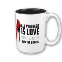 All you need is love mug from Zazzle.com