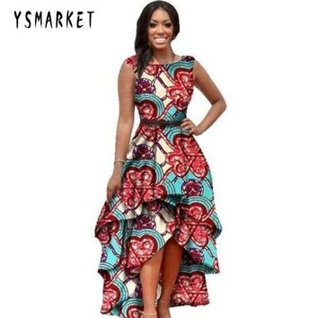 YSMARKET Hot print african clothes for women dresses big size sleeveless fashion european style summer long dress vintage