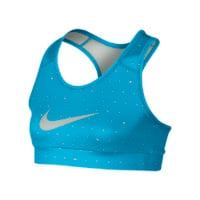 Nike Pro Hypercool Fitted Graphic 2 Girls' Sports Bra - Vivid Blue