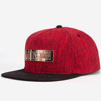 Motivation Metal Bar Mens Snapback Hat Red One Size For Men 23947230001