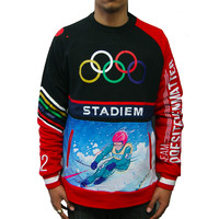 DIEM Knit Sweatshirt Stadiem In Black/Red