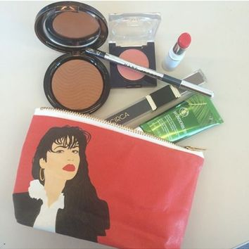 Selena Pop Zipper Pouch and Makeup Bag – Illustrated and Handmade in the USA