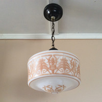 Antique Art Deco Pendant Light 1930s Neoclassical Design