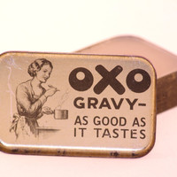 Vintage 1950's OXO Tin Candle by CherryBlossomCandles on Etsy