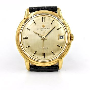 Vacheron Constantin 18k Yellow Gold Vintage Men's Watch Textured Dial