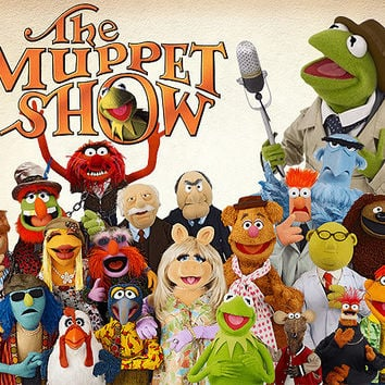 59 Muppet Show Clipart PNG Digital Image Muppet Show Clip Art scrapbook Invitations Kermit Miss Piggy INSTANT DOWNLOAD printable