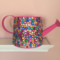 Watering Can with Multi Color Rhinestones