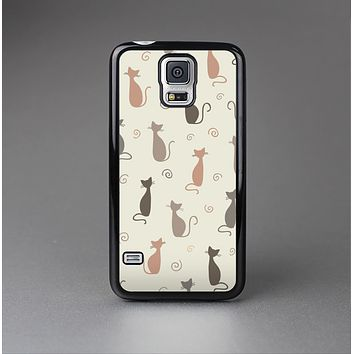 The Vintage Solid Cat Shadows Skin-Sert Case for the Samsung Galaxy S5