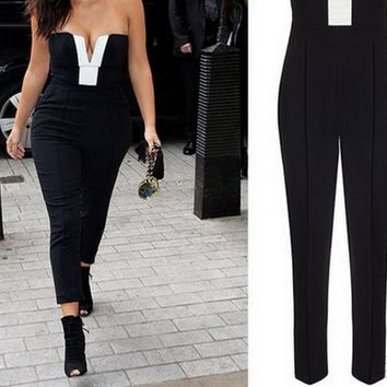 Hot Black And White Jumpsuit