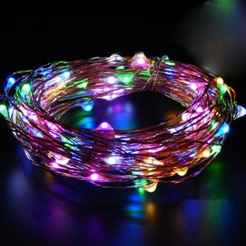 2M 20 LED Copper String Lights Fairy Lights Battery Operated Ultra Thin String Wire for Xmas Garland Party Decoration Christmas