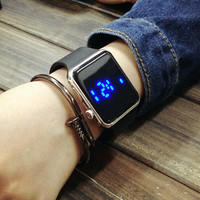 Unisex Simple Style LED Watch + Gift Box- 485