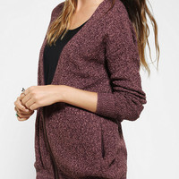 Urban Outfitters - Silence + Noise Marled Zip-Front Cardigan