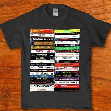 Classic hip hop cassette tapes - Onyx nas pac Epmd nwa etc adult Men's t-shirt